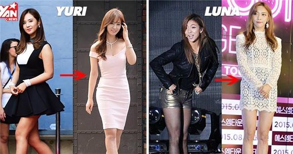 12 idol nhà SM lên đời nhan sắc sau khi giảm cân