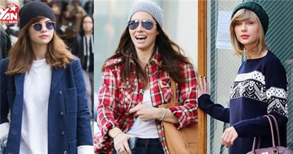 """8 kiểu mũ mùa thu sao Hollywood """"siêng diện"""" nhất lúc giao mùa"""