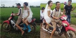 Sốt với cô dâu 'xỏ ủng, lội bùn' về nhà chồng vẫn cười rạng rỡ