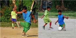 Khâm phục nghị lực chàng trai chơi bóng bằng đôi chân không lành lặn