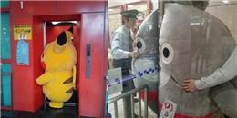 Chết cười với 1001 khoảnh khắc kẹt cứng của những chú mascot