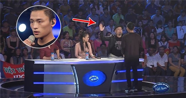 """Huy Tuấn """"tát yêu"""" thí sinh Vietnam Idol Việt Thắng"""