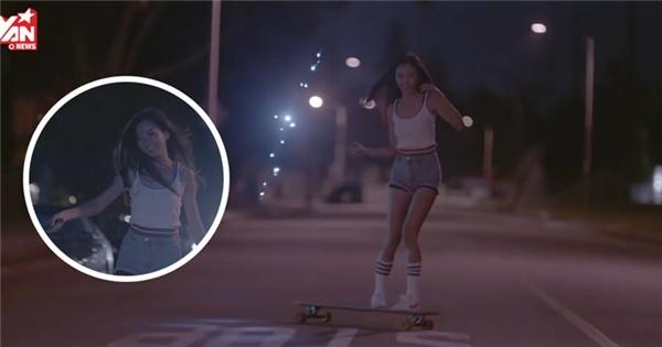 """""""Nữ thần trượt ván"""" xinh đẹp hớp hồn trong MV của Far East Movement và Hyorin"""