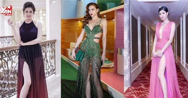 Đỏ mặt vì những chiếc váy xẻ cao bất tận của sao Việt