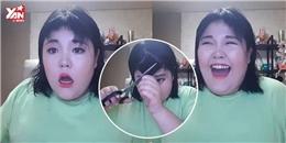 Cô gái tự tin cắt tóc mái theo hướng dẫn trên mạng và cái kết