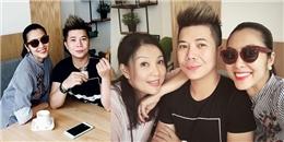 Tăng Thanh Hà 'vác' bụng bầu đến chia vui cùng cựu người mẫu Minh Anh