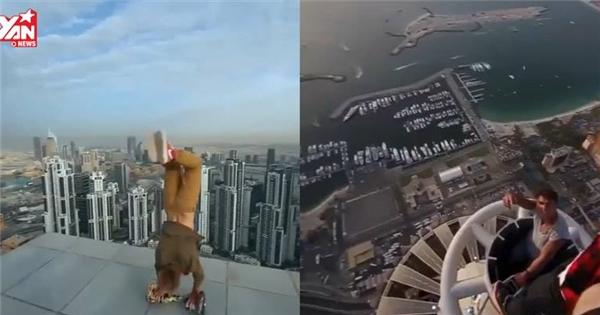 Thót tim với những pha hành động mạo hiểm trên tòa nhà cao tầng