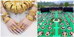 Trố mắt với những đám cưới 'ngông' đầy tiền, vàng, siêu xe cực chất