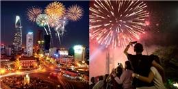 TP.HCM rộn ràng 7 điểm bắn pháo hoa nghệ thuật Tết Nguyên Đán 2017