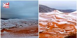 Bạn tin không: Vừa có tuyết rơi ở sa mạc Sahara!