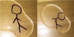 Hình vẽ tự bay nhảy trên mặt nước: đây là trò