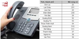 Từ 11/2, 13 tỉnh thành phố sẽ thay đổi mã vùng điện thoại cố định