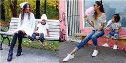 Mẹ con fashionista gây sốt khi diện đồ đôi cực